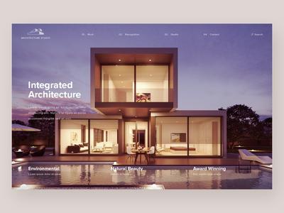 Architecture Studio - Website Concept ui web ui deisgn ux minimal homepage website concept website