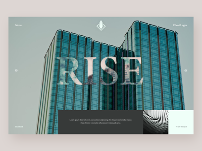 Architecture Firm - Website Concept website concept website web ux ui deisgn ui minimal homepage