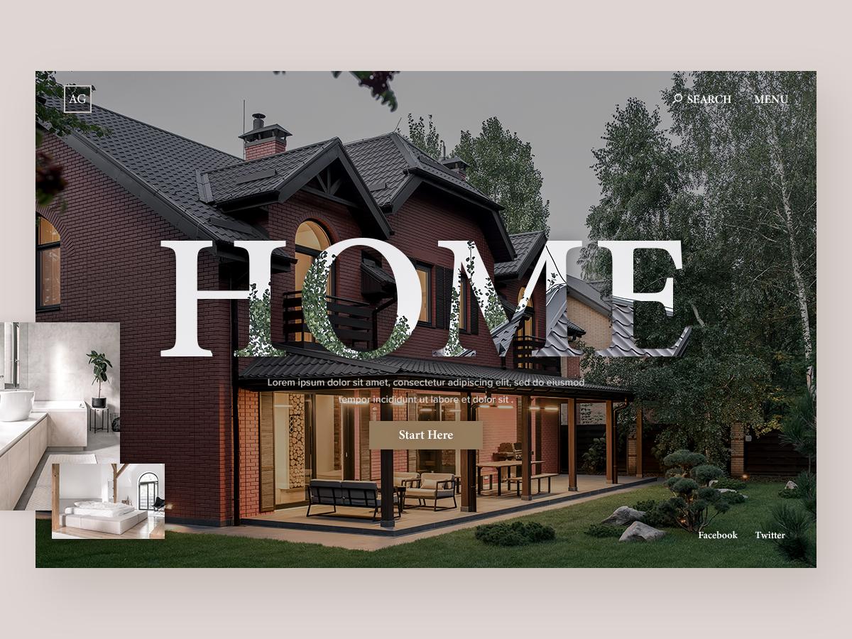 Home Builder - Website Concept typography branding website concept website web ux ui ui deisgn minimal homepage