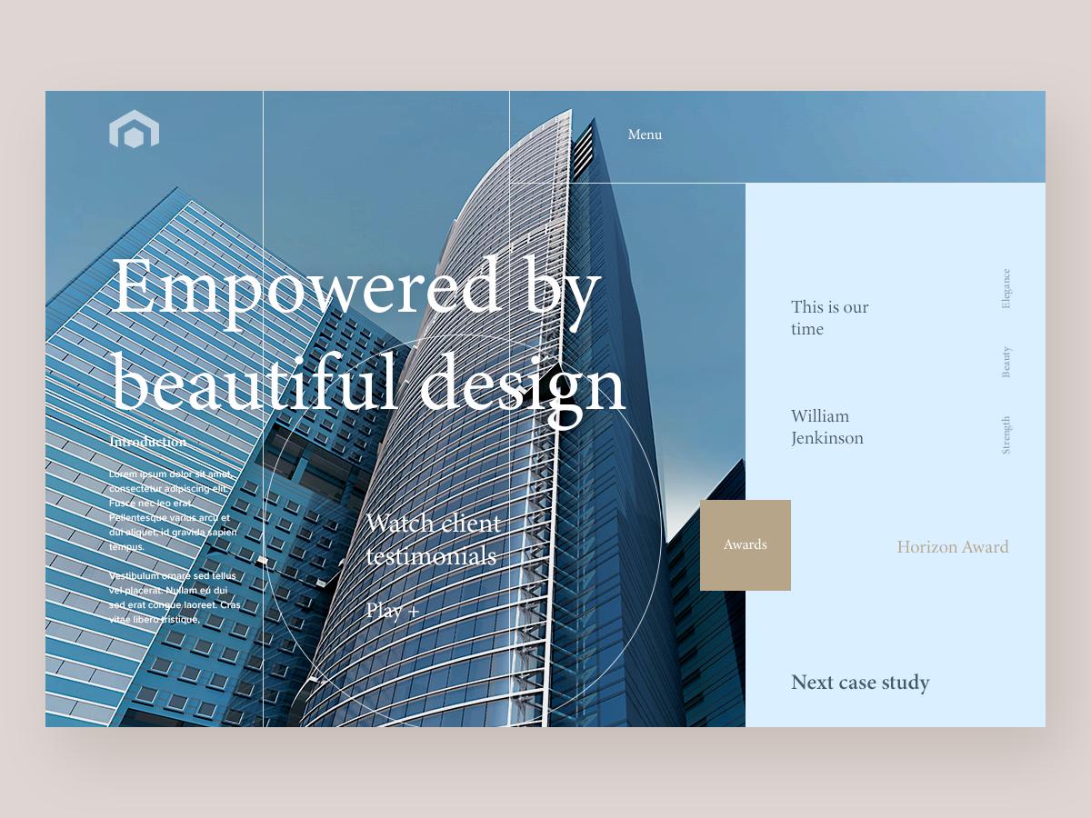 Construction Firm - Website Concept identity flat design typography branding website concept website web ux ui deisgn ui minimal homepage