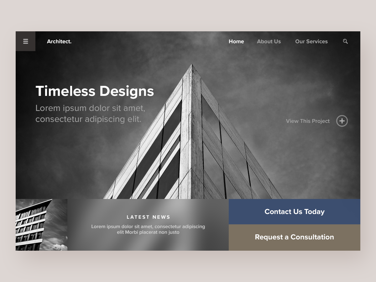 Architecture Firm - Website Concept design typography branding website concept website web ux ui deisgn ui minimal homepage