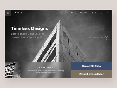 Architecture Firm - Website Concept design typography branding website concept website web ux ui deisgn ui minimal homepage