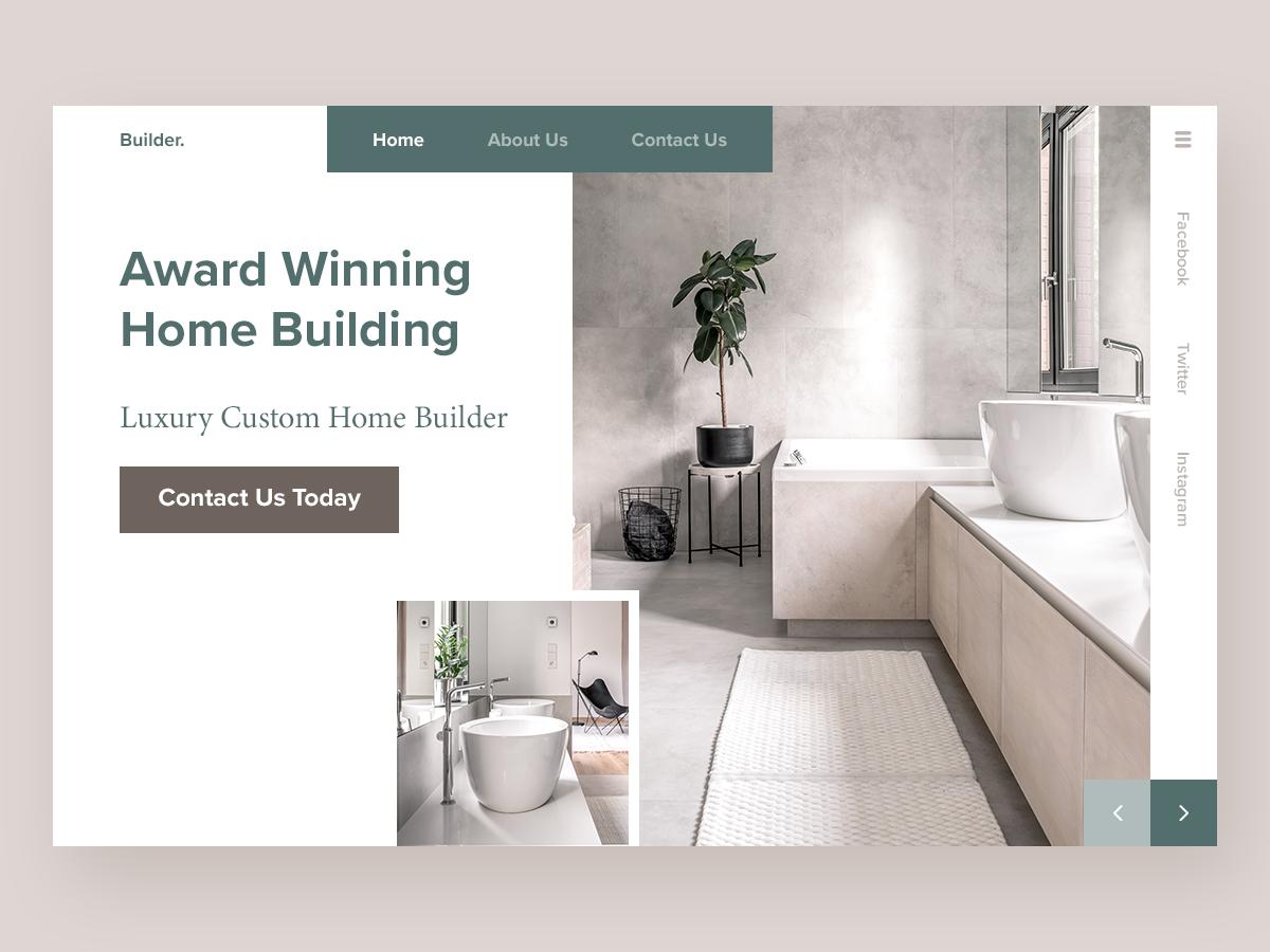 Luxury Home Builder - Website Concept website concept website web ux ui deisgn ui minimal homepage