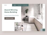 Luxury Home Builder - Website Concept