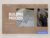 Home Contractor - Website Concept