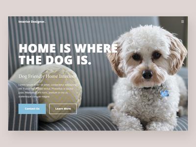 Interior Designer - Website Concept design typography branding website concept website web ux ui deisgn ui minimal homepage