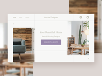 Interior Designer Landing Page