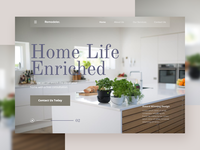 Kitchen Remodeler Landing Page branding concept design interior design social homepage interaction design landing page layout photoshoot shop store minimal ui ui deisgn ux web website website concept typography