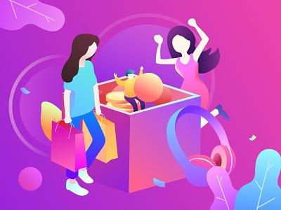Shopping 设计 illustration 插图