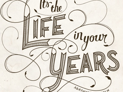 Life in your years finish