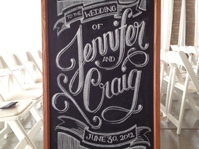 Wedding Chalkboard wedding chalk chalkboard lettering sketch drawing ribbon script ceremony party