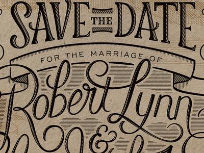 Save The Date Closeup