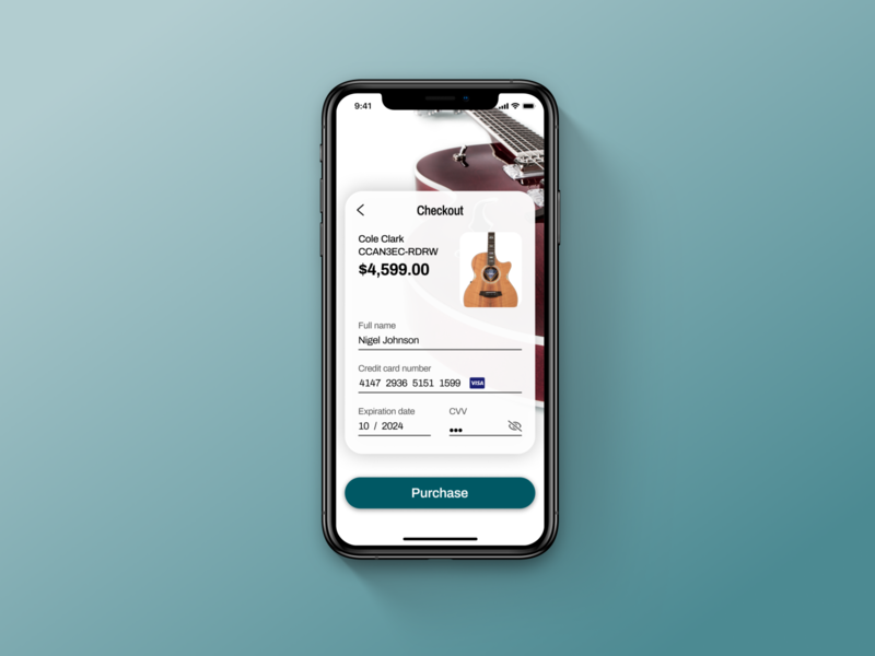 Daily UI #002 – Credit Card Checkout app ux ui mobile design