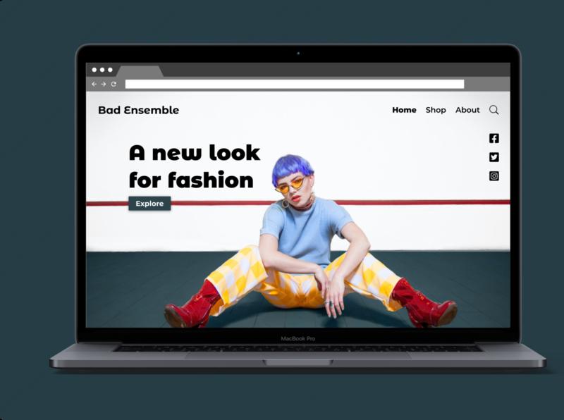 Daily UI #003 Landing Page minimal fashion figma dailyui003 dailyui ux ui design