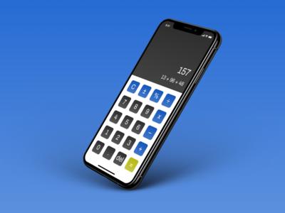 Daily UI #004 – Calculator mobile calculator calculator dailyuichallenge dailyui 004 figma dailyui mobile minimal app ui design
