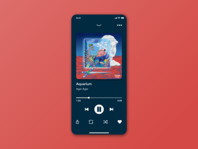 Daily UI #009 – Music player music player ui music player music app music daily ui 009 dailyuichallenge figma ux mobile dailyui minimal app ui design