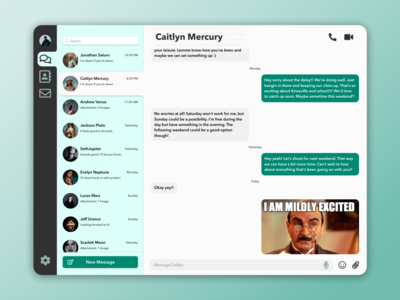 Daily UI #013 — Direct messaging messaging app messaging message daily ui 013 dailyuichallenge figma ux dailyui minimal app ui design