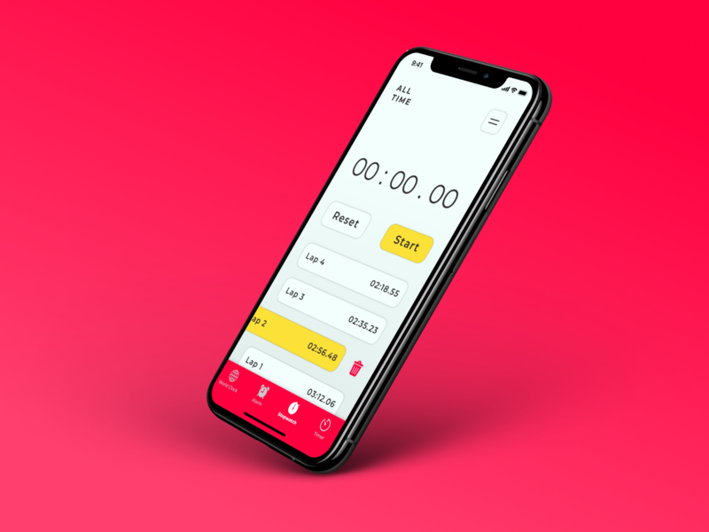 Stopwatch App stopwatch mobile figma ux minimal app ui design