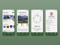 Hiking Mobile App outdoors hiking mobile figma ux minimal app ui design