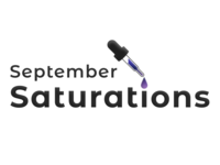 September Saturations saturation september illustration icon typography vector branding logo figma minimal ui design