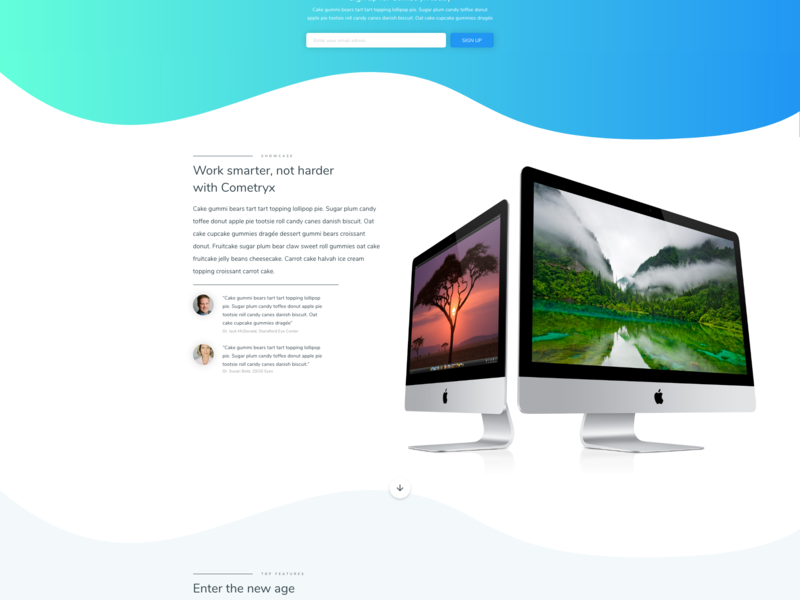 Cometryx Web Design homepage ui  ux web prototype xd adobe web design design ux ui