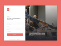 Sign up form animation