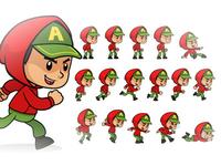 Red Hoodie Boy Game Sprites