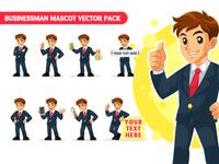 Businessman Mascot Vector Pack