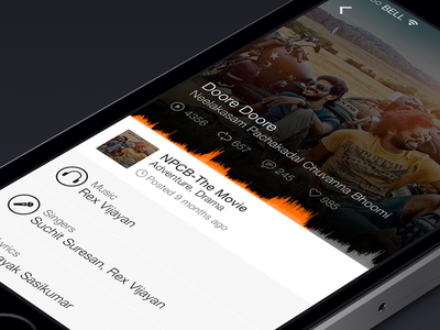SoundCloud -Music Player clean iphone ios7 animation icons music player
