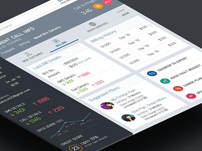 ABC Telecom ui ux website app responsive clean grid colorful dashboard profile