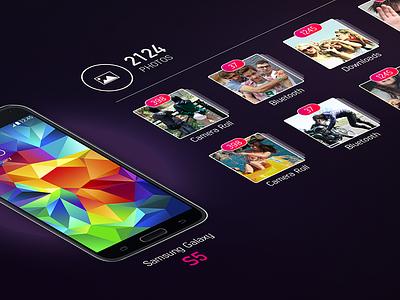 Scanner - Photo Stream multi-touch mobile scan data transfer colorful dark clean album photo