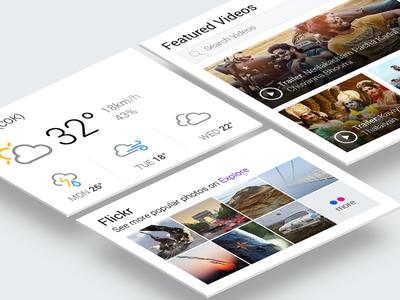 Rethink - Yahoo - Widgets minimal white weather dashboard card clean widget photo