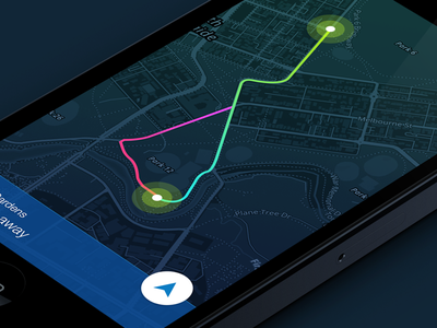 Interactive Navigation - Rethink app clean colorful ios icons dark navigation map