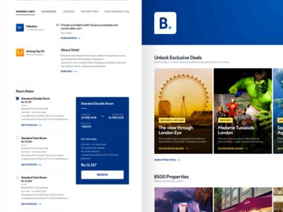 Booking.com - Rethink brand identity cards minimal booking website booking.com