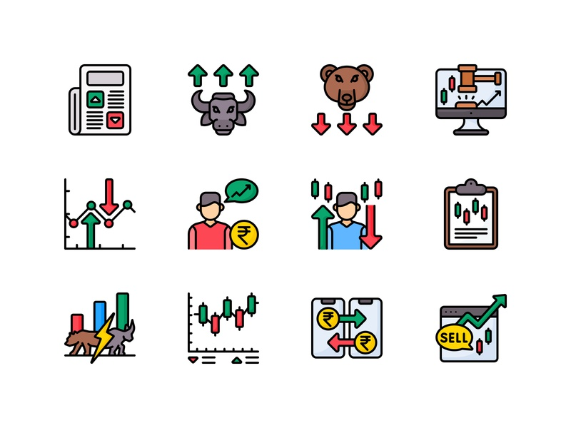 Stock Trading Icon Pack