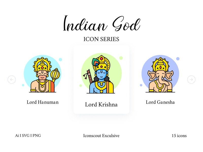 Indian God And Goddess Icon Pack