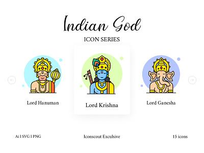 Indian God And Goddess Icon Pack worship bajrangbali hanuman krishna ganesha lord india gods religious spiritual hinduism hindu religion goddess god icons pack icons iconography icon