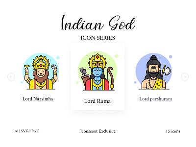 Indian God And Goddess Icon Pack rama worship hinduism hindu goddess god india icons pack icons iconography icon