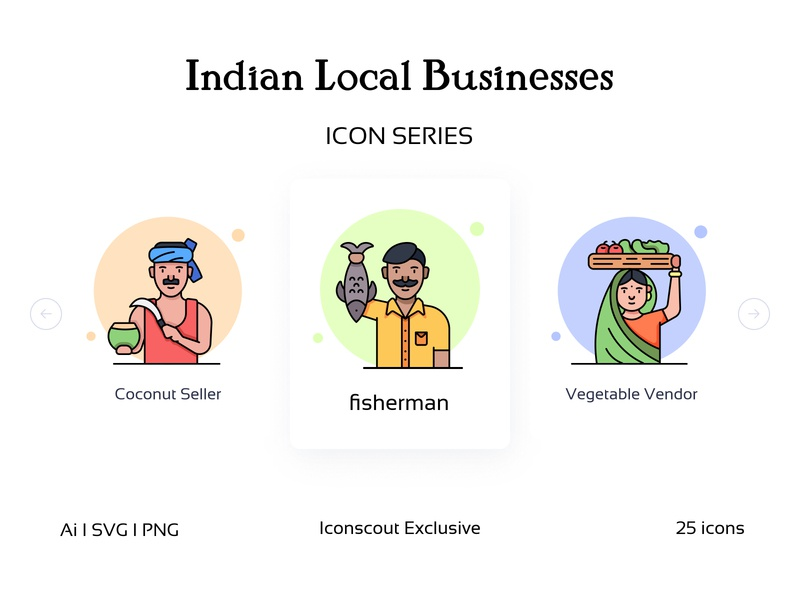 Indian Local Businesses Iconpack