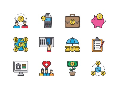 Banking Services Icon pack