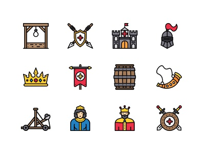 Medieval Iconpack free freebies royalty medieval design icons icons pack iconography icon