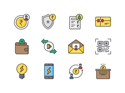 E   Wallet icon pack