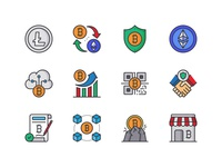 Bitcoin - Cryptocurrency Icon pack