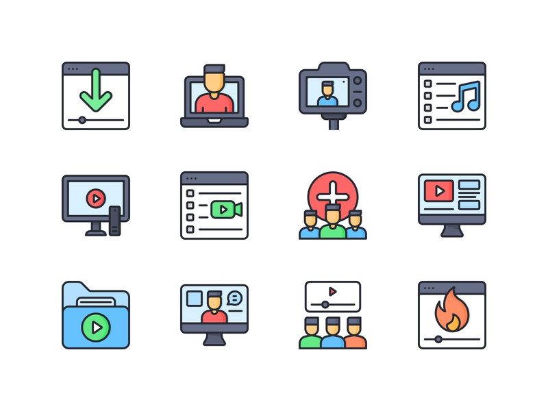 Online Streaming Icon Pack