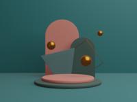 Learning 3D — Exp. 02 illustration design blender 3d