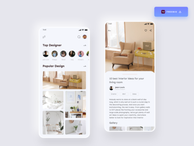 Daily UI Challenge 077/100 - Interior Design App - (Freebie) freebie xd free adobexd freedownload interiordesign app interior decor interior design app interior design interior app design free download freebie uidesign adobe xd ankur tripathi dailyuichallenge dailyui dailychallenge daily 100 challenge 100uichallenge