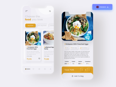 Daily UI Challenge 079/100 - Food Order App  - (Freebie) app designer ordering app uidesigns uiux ordering food app food ordering app food ordering food app ui design app design free download freebie uidesign adobe xd ankur tripathi dailyuichallenge dailyui dailychallenge daily 100 challenge 100uichallenge