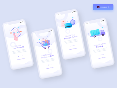 Daily UI Challenge 089/100 - E-commerce Onboarding screens ui uiux app ui ecommerce onboarding screens onboarding ui onboarding ecommerce app appdesign app free download freebie uidesign adobe xd ankur tripathi dailyuichallenge dailyui dailychallenge daily 100 challenge 100uichallenge