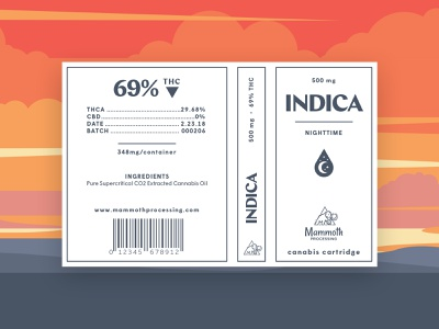 Indica Sticker canabis marijuana design identity branding sticker