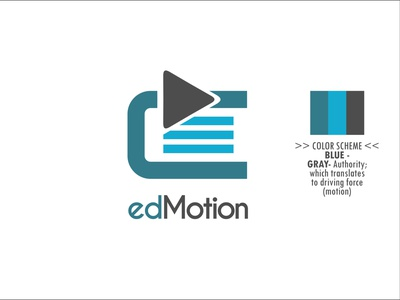 edMotion Logo icon logo minimal vector flat illustration design